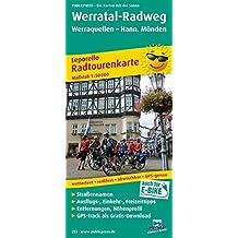 Werratal-Radweg, Werraquellen - Hann. Münden: Leporello Radtourenkarte mit Ausflugszielen, Einkehr- & Freizeittipps, wetterfest, reissfest. 1:50000 (Leporello Radtourenkarte/LEP-RK)