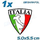 1x Italien Aufkleber Emblem (Nr.001) Italian Italy Sticker Italia Adesivo 5,0x5,5cm