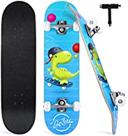BELEEV Skateboard 31x8 inch Completo Cruiser Skateboard per Bambini, Giovani e Adulti, 7 Strati di Acero Canad