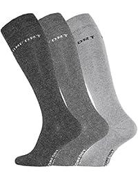 Lot de 3 paires de chaussettes hautes pour hommes, d'origine de VCA®. Couleur: gris / anthracite