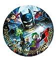 Batman Personalisierte Kuchen Topper Puderzucker Papier 19,1cm Bild 4