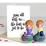 Tied Ribbons 2 Love Figurines with Greeting Card