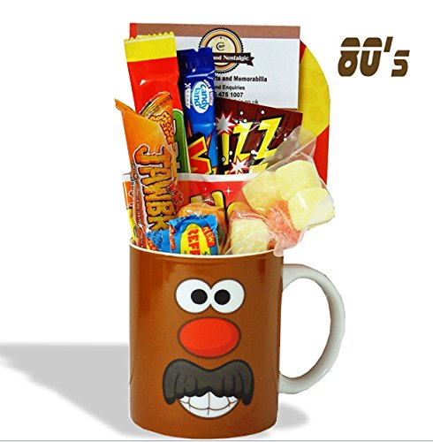 Mr Potato Head Mug with a Choc portion of 80's Sweets