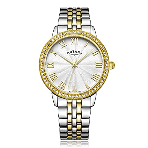 Rotary Women's Quartz Watch with Silver Dial Analogue Display and