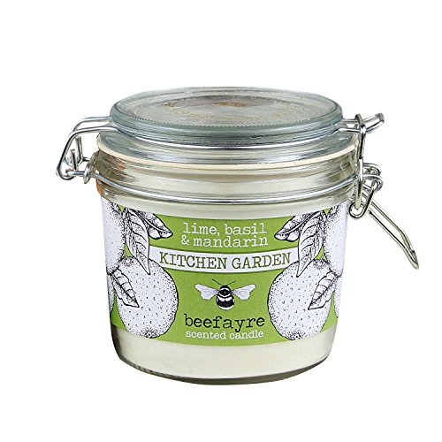 Beefayre Bee Garden - Lime, Basil & Mandarin - Scented Kitchen Candle - 350g/50hours -