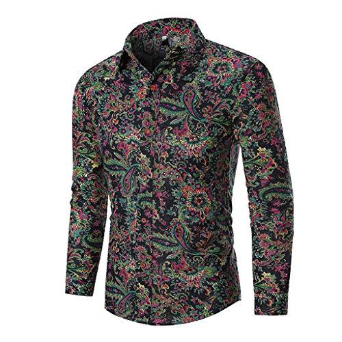 Butterfly Bio-kinder-t-shirt (Yvelands Herren Mode T-Shirt Buchstabe Knopf Persönlichkeit Hemd Kurzarm Bluse Tops(Schwarz,L))