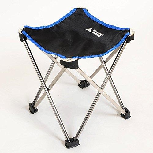 YUN MY GIRL Chaise Pliante extérieure portative de pêche avec Le Tissu d'Oxford et l'alliage d'aluminium pour Le Jardin, Le Camping, voyageant, Chaise de Plage (Taille : 19 * 19cm)