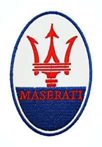 Ecusson brode patch MASERATI Motors Cars Logo Motorsport ShirtsEmbroidered Iron or Sew on Patch by wonderfullmoon