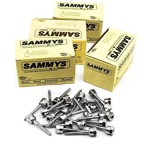 Everflow Sammys 8073925–100SWG 20-ss 3/20,3cm Schraube Sidewinder für Holz, Rod Aufhänger, installiert Horizontal, Stahl verzinkt, Korrosionsbeständigkeit, 1/10,2x 5,1cm Schraube Länge–(100Stück) (Stück Sidewinder 3)