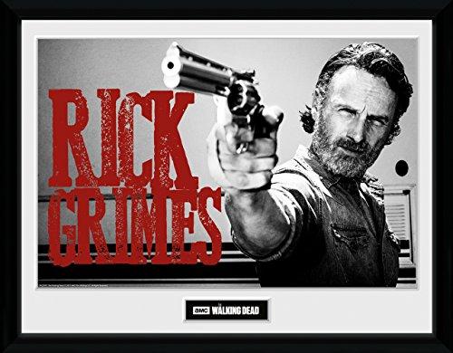 GB eye Ltd Walking Dead, Rick Grimes, Framed Print 30x40cm, Wood, Various, 52 x 44 x 3 cm