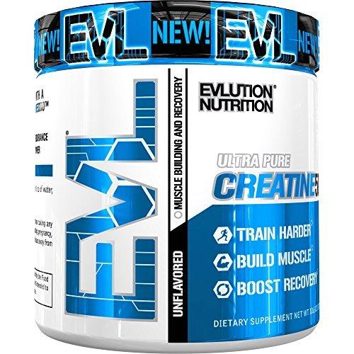 Evlution Nutrition Creatine5000 5 Gramos de Pura Creatina en Cada Porción de Polvo Sin Sabor 60 Porciones