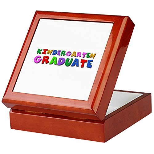 CafePress-Kindergarten Graduation Idee-Keepsake Box, fertig Hartholz Jewelry Box, Samt Gefüttert Memento Box mahagoni