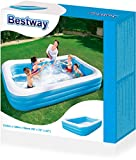 Bestway Family Pool Blue Rectangular Deluxe, 305 x 183 x 56 cm -