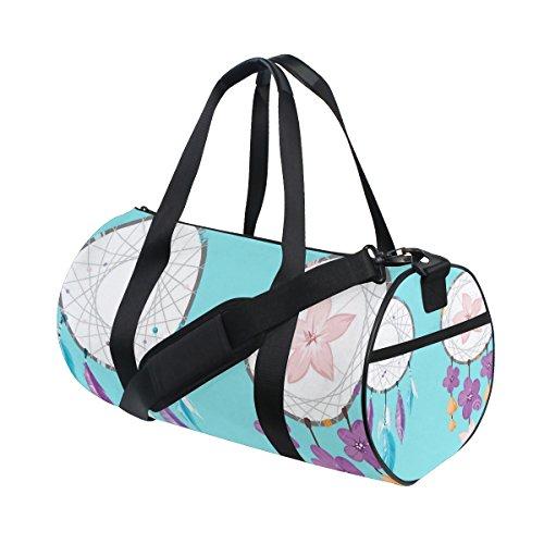 jstel Atrapasueños flor bolsa de deporte gimnasio para hombres y mujeres bolsa de viaje de viaje