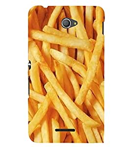 FUSON French Fries Potato Chips 3D Hard Polycarbonate Designer Back Case Cover for Sony Xperia M4 Aqua :: Sony Xperia M4 Aqua Dual