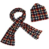 Phenovo Multi-purpose Scarf Hat Warm Beanie Hat Wide Winter Scarf Set Multi-Color 02