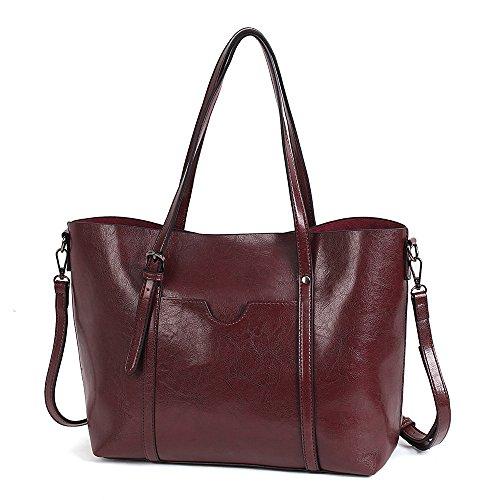 Vovoye dello zaino di viaggio donna zaino da viaggio multifunzione borsa da scuola e borse in pelle borse tracolla donne zaino in pu pelle (caffè)