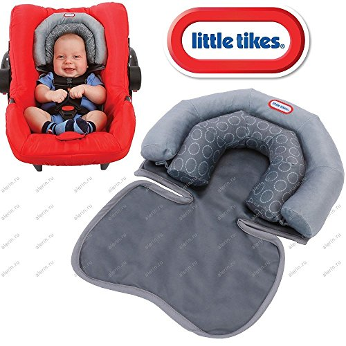 Little Tike® Baby Infant 2 in 1 Soft Head Neck Support Cushion Pillow for Travel, Car Seat, Pushchair, Pram & Baby Carrier etc 51vgZpeaapL