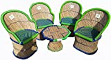 #7: Ecowoodies HandiCraft Cane Furniture Set