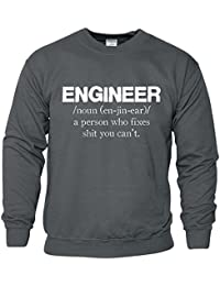 Engineer Gift for Dad Attention Lumière Voiture Sweatshirt