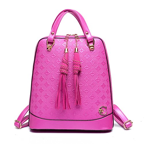 Damen Tassel Korean Fashion Rucksack Purple