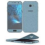Urcover Samsung Galaxy A5 2017 Glitzer-Folie zum Aufkleben | Folie in Hell Blau | Zubehör Glitzerhülle Handyskin Diamond Funkeln Schutzfolie Handy-schutz Luxus Bling Glamourös