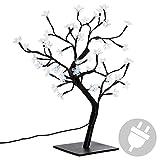 Nipach GmbH 48 LED Baum mit Blüten Blütenbaum Lichterbaum weiß 45 cm hoch Trafo IP20 Weihnachtsbeleuchtung Weihnachtsdeko Weihnachten Xmas