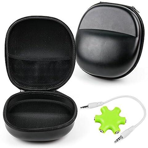Kunstleder Tasche der Marke DuraGadget für Ihre PHILIPS Kopfhörer: Fidelio Wireless, Fidelio M1BT, Fidelio M2BT und Fidelio M2L - mit Verteiler