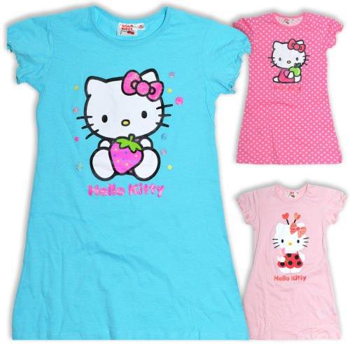 Girls-Hello-Kitty-Nightdress-Kids-Nightie-Pink-Blue-New-Bnwt-Age-4-6-8-10-Years