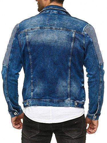 Red Bridge Herren Jeansjacke Biker Style Jeans Jacket Blue Denim Jacke Blau M6058 M - 6