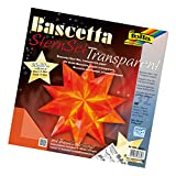 folia 840/3030 - Bastelset Bascetta Stern, Transparent, 30 x 30 cm, 32 Blatt, orange