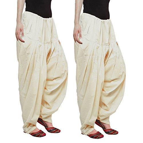 Aadhar Creations Beige Patiala Salwars (pack of 2)