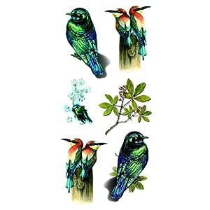 carpinteros la estrella: Oottati Tatuajes Temporales 3D Pájaro Carpintero (2 hojas)