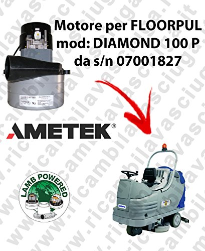 P/n Motor (Diamond 100P-S/N 07111827Motor Lamb Ametek Einlassventil für Bodenwischer Floorpul)