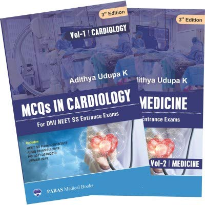 MCQs In Cardiology For DM/NEET SS Entrance Exams 3rd/2019 (2 Vols.Set)
