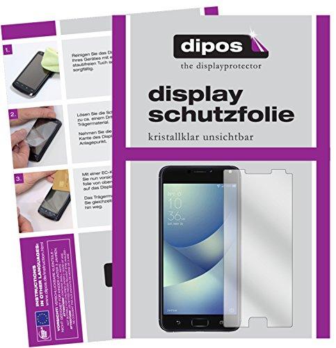 dipos I 2X Schutzfolie klar passend für Asus Zenfone 4 Max 5,2 Zoll ZC520KL Folie Bildschirmschutzfolie