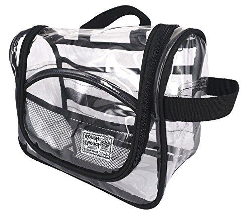 Rough Enough Clear Transparent PVC Cosmetic Bag Durchsichtig Große Kapazität Kosmetiktasche...