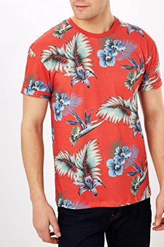 next-Hombre-Camiseta-con-Estampado-de-Flores