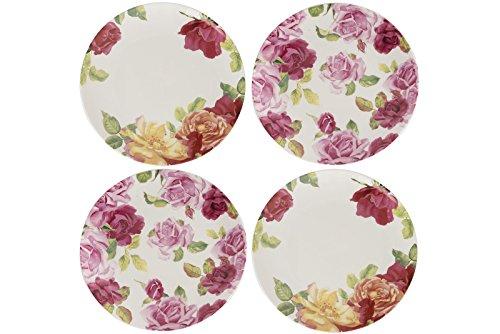 KEW GARDENS Southbourne Rose Teller, weiß, 4Stück Flower Garden Teller