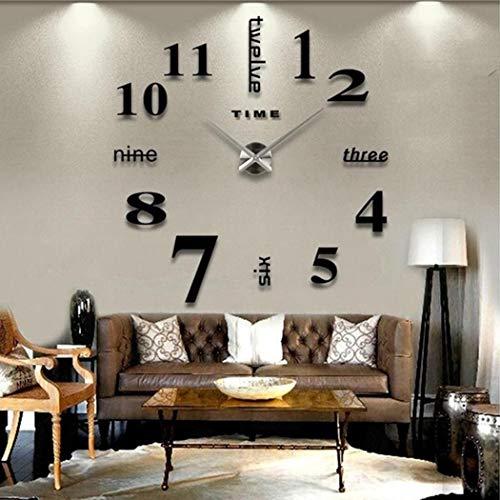 lindames orologio decorativo per la casa con orologio da parete al quarzo di forma rotonda muto casa e cucina