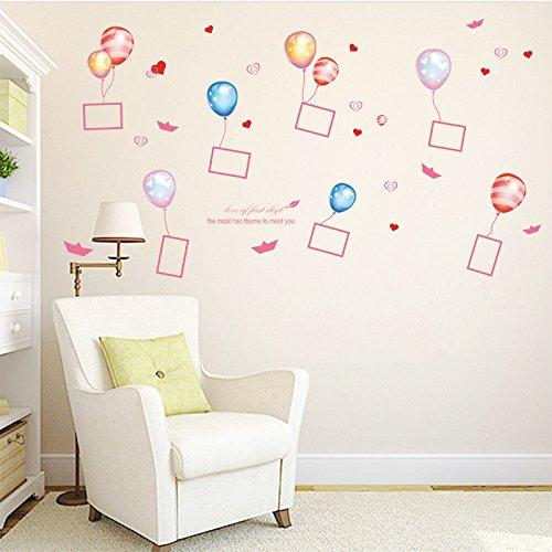 Ballon Photo Frame Dekorative Aufkleber Kinderzimmer Wohnzimmer Hintergrund Dekorative Wandaufkleber