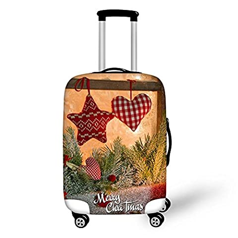 Travel Luggage Cover Christmas 3D Cartoon Printing Wear-resisting Elastic force Thickening Suitcase Protective Dustproof Cover Fits 18-28 inch , 8 ,