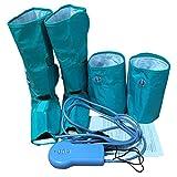 Socialism EU 220 V Komfortable Luftkompression Beinwickel Atmungsaktive Gesundheitswesen Sauna Gürtel Entspannen Ankle Therapy Massagegerät - blau