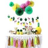 SUNBEAUTY Sommer Party Dekoration Kit Flamingo Ananas Hawaii Tropische Deko