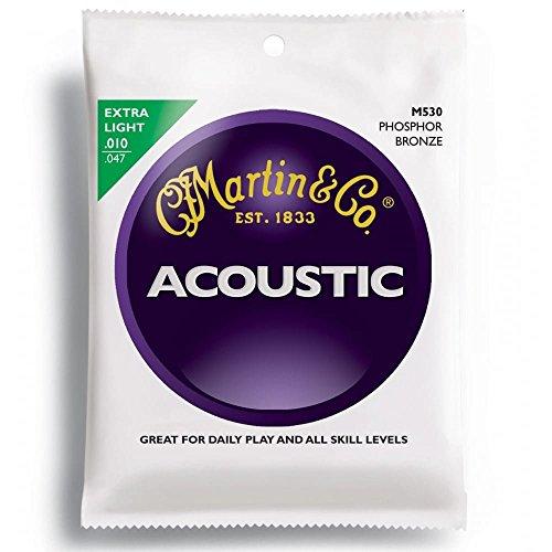 Martin M530 - Juego de cuerdas para guitarra acústica de fósforo/bronce