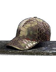 Noga Python camuflaje sombrero para el sol sombrero del ejército al aire libre simplicidad camuflaje táctico al aire libre Gorra de Pesca Senderismo Caza Mountain python Camouflage
