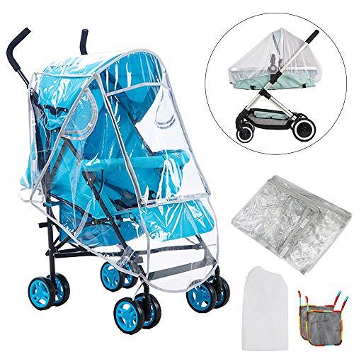 FOGAWA Kit Protector de Lluvia Universal Plastico Burbuja de Lluvia para Silla de Paseo Cochecito Bebe...