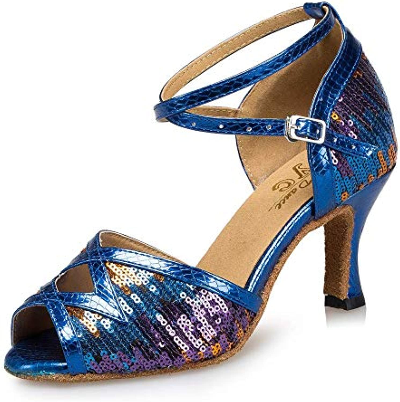 Willsego Cintura Cintura Cintura da Donna con Fibbia in Metallo Scarpe da Ballo Salsa Tango     Samba Moderno Jazz Scarpe Sandali...   Tatto Comodo  ed33c2