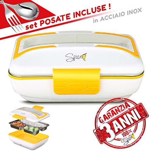 Spice scaldavivande portatile lunchbox vaschetta acciaio inox estraibile 40w garanzia 3 anni