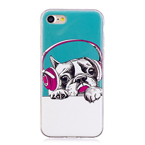Custodia iPhone 7 / iPhone 8 Cover Silicone , YIGA Unicorno rosa Moda Nottilucenti Luminoso Trasparente Silicone Morbido TPU Case Custodia per Apple iPhone 7 / iPhone 8 (4.7) YG-XS82